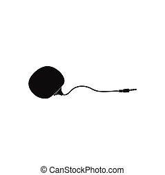 nero, portatile, altoparlante