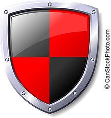nero, scudo, rosso