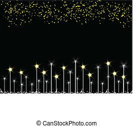 nero, stelle, fondo