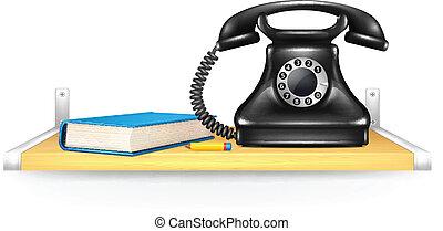 nero, telefono, libro indirizzo, o, matita