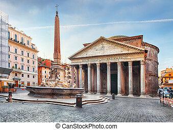 nessuno, -, pantheon, roma