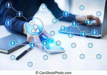 network., marketing., persone, media, sociale, smm., icona