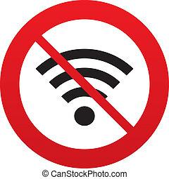 network., no, segno., wifi, simbolo., fili, wi-fi