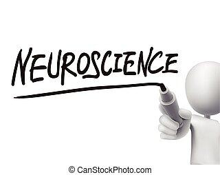 neuroscience, scritto, uomo, parola, 3d