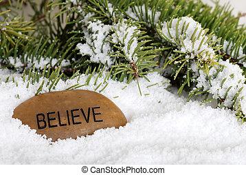 neve, pietra, credere