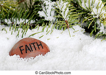 neve, pietra, fede