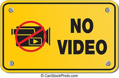 no, -, segno giallo, s, video, rettangolo