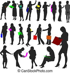no.2., donne, lavoro, -, persone