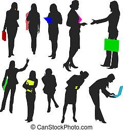 no.2., persone, -, donne affari