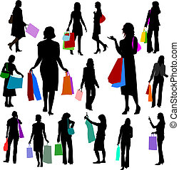 no.2., -, persone, shopping, donne