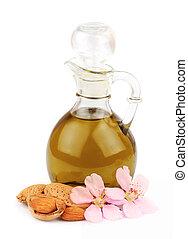 noci, fiori, olio, mandorla