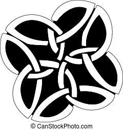nodi, modello, celtico