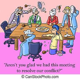 noi, risolvere, questo, avere, contento, sono, riunione, conflitto
