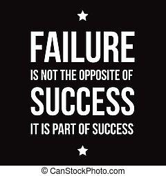 non, successo, opposto, fallimento