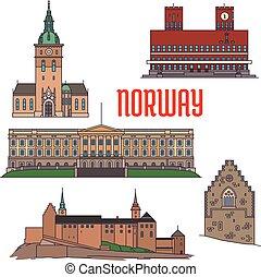 norvegia, costruzioni, sightseeings, storico