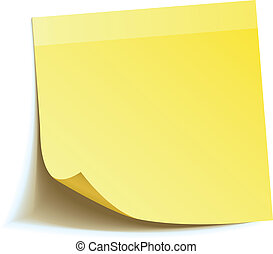 nota, bastone, giallo