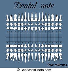 nota, dentale, clinica