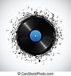nota, disco, musicale