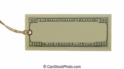 nota, dollari, cento, banca, vuoto