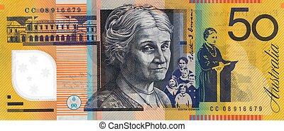 nota, dollaro australiano, cinquanta