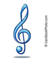 nota, musica, lucido