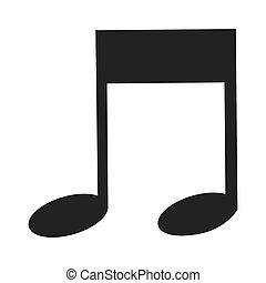 nota, musica, ottavo, icona