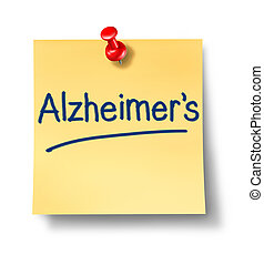 nota, promemoria, alzheimer, ufficio