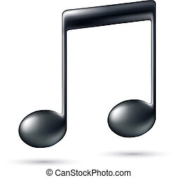 nota, segno., musica