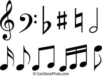 nota, simboli musica