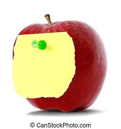 notare carta, mela, vuoto, rosso