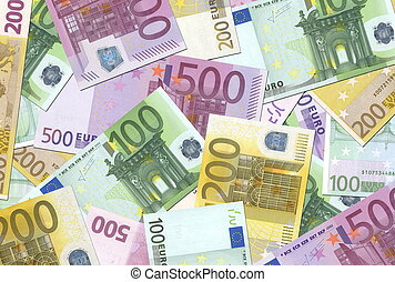 note, 100, struttura, euro