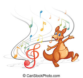 note, canguro, musicale