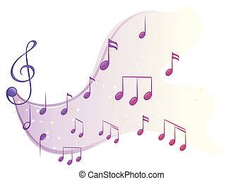 note, differente, musicale