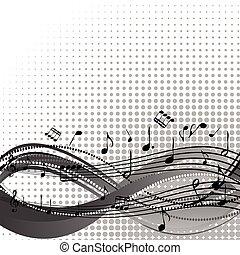 note, doga, musicale, fondo