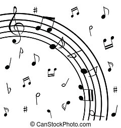 note, doga, musicale