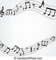 note musica, bordo