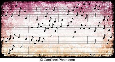 note, musica, classico