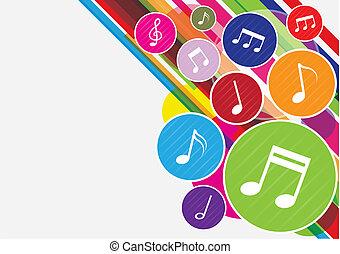 note, musica, colorito, fondo