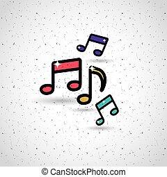 note musica, disegno
