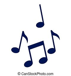 note, musica, isolato, icone