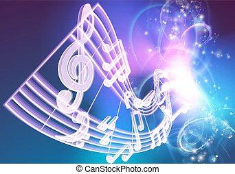 note, musica, musicale, fondo
