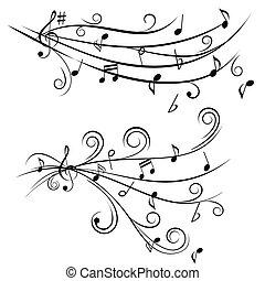 note, musica, personale