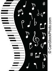 note, musica, pianoforte