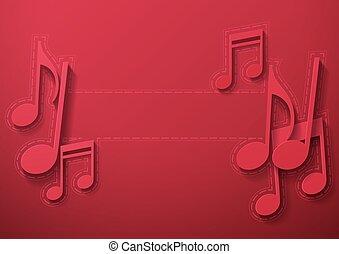 note, musica, sfondo marrone