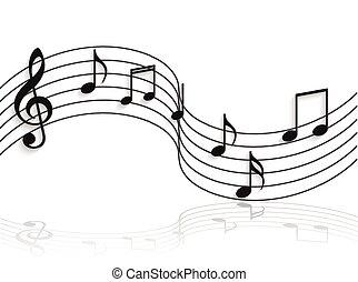 note, musicale, illustrazione