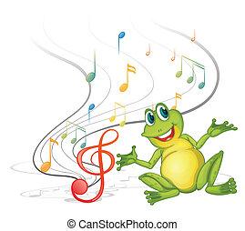 note, musicale, rana