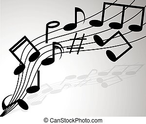 note, sopra, volare, doga, musicale