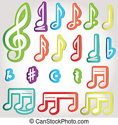 note, vario, musicale