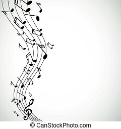 note, vettore, musica