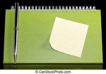 noteped, organizzatore, penna